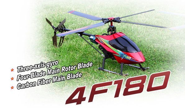 Walkera 4F180 - 4 csatornás, 2,4 GHz-es, brushless, Flybarless helikopter  1