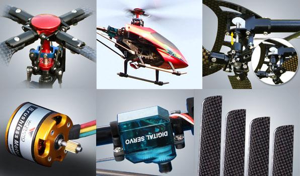 Walkera 4F180 - 4 csatornás, 2,4 GHz-es, brushless, Flybarless helikopter  2