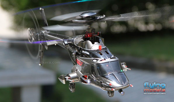 Walkera Airwolf 200SD03 - 6 csatornás, 2,4 GHz-es, brushless, Flybarless helikopter  1