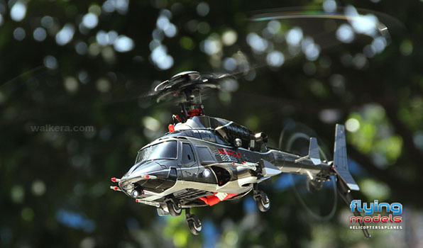 Walkera Airwolf 200SD03 - 6 csatornás, 2,4 GHz-es, brushless, Flybarless helikopter  3