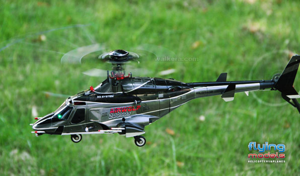 Walkera Airwolf 200SD03 - 6 csatornás, 2,4 GHz-es, brushless, Flybarless helikopter  4