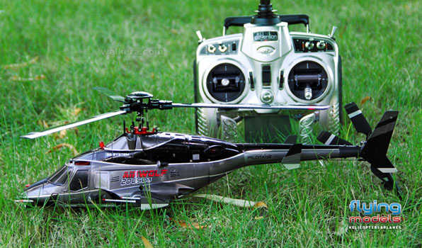 Walkera Airwolf 200SD03 - 6 csatornás, 2,4 GHz-es, brushless, Flybarless helikopter  5