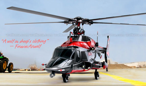 Walkera Airwolf 200SD05 - 6 csatornás, 2,4 GHz-es, brushless, Flybarless helikopter  2