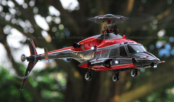 Walkera Airwolf 200SD05 - 6 csatornás, 2,4 GHz-es, brushless, Flybarless helikopter  5
