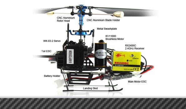 Walkera CB 100 - 4 csatornás, Bell rendszerű helikopter / WK 2402 (RTF) 3