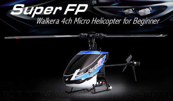 Walkera Super FP - 4 csatornás, 2,4 GHz-es, Flybarless helikopter  1