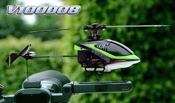 Walkera V100D08 - 6 csatornás, 2,4 GHz-es, Flybarless helikopter  1