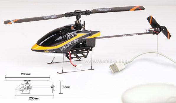 Walkera V100D08 - 6 csatornás, 2,4 GHz-es, Flybarless helikopter  2