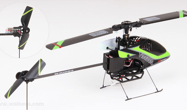 Walkera V100D08 - 6 csatornás, 2,4 GHz-es, Flybarless helikopter  5