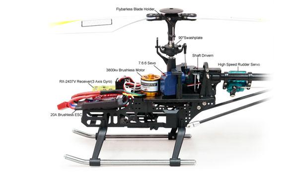 Walkera v200d01 - 4 csatornás, 2,4 GHz-es, Flybarless helikopter  1