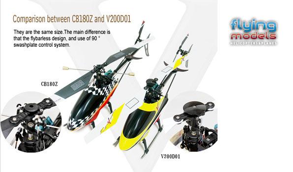Walkera v200d01 - 4 csatornás, 2,4 GHz-es, Flybarless helikopter  5