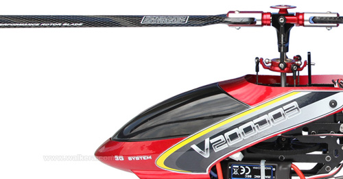 Walkera V200D03 - 6 csatornás, 2,4 GHz-es, brushless, Flybarless helikopter 4