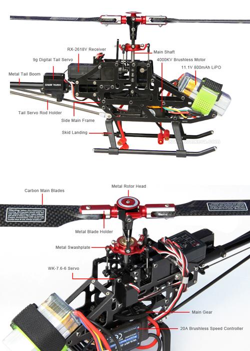Walkera V200D03 - 6 csatornás, 2,4 GHz-es, brushless, Flybarless helikopter 6