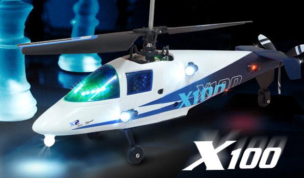 Walkera X100 - 4 csatornás, 2,4 GHz-es, Koax helikopter 2