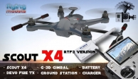 Walkera Scout X4 - G3D gimbal - 5,8GHz videó adó - Devo F12E TX - RTF3