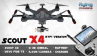 Walkera Scout X4 - G3D gimbal - iLook+ camera - Devo F12E TX - RTF1