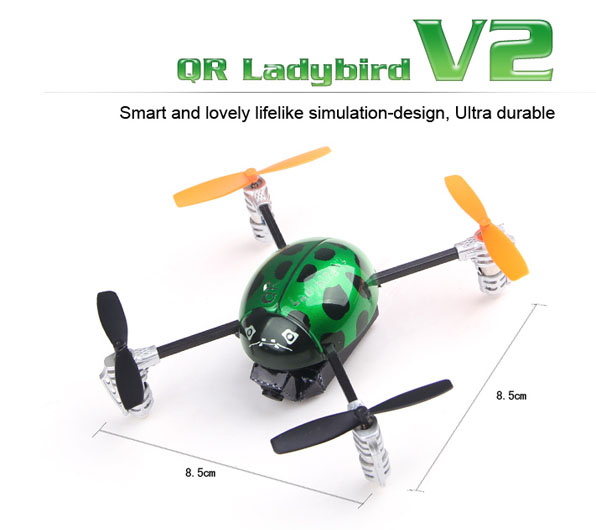 Walkera Qr Ladybird V2. FPV - Devo F4 8