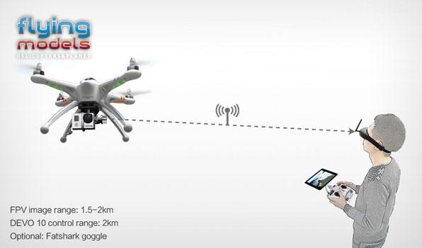 Walkera QR X350 Pro Quadcopter  - Devo F12E - FPV version - RTF9 4