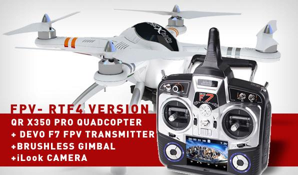 Walkera QR X350 Pro Quadcopter - FPV version - RTF4  2