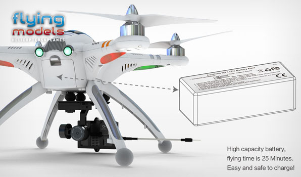 Walkera QR X350 Pro Quadcopter - FPV version - RTF4  4