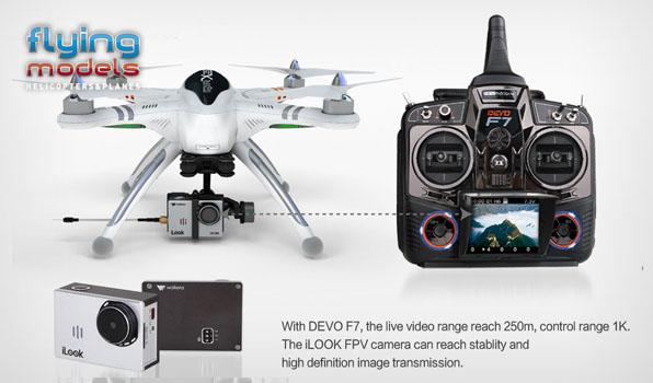 Walkera QR X350 Pro Quadcopter - FPV version - RTF4  5