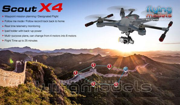 Walkera Scout X4 - G3D gimbal - 5,8GHz videó adó - Devo F12E TX - RTF3 1