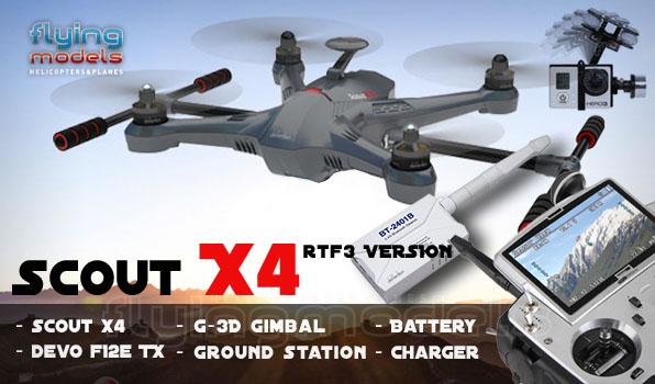 Walkera Scout X4 - G3D gimbal - 5,8GHz videó adó - Devo F12E TX - RTF3 17