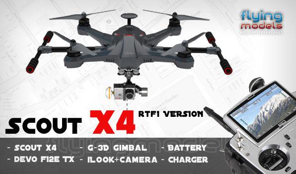 Walkera Scout X4 - G3D gimbal - iLook+ camera - Devo F12E TX - RTF1 17