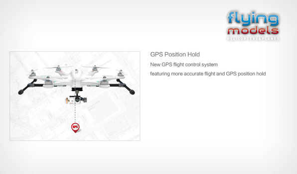 Walkera TALI H500 FPV GPS Brushless Hexacopter BNF 6