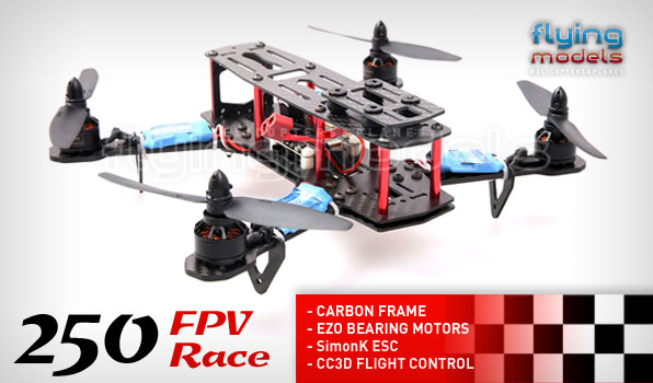 XBird 250 FPV Race carbon quadcopter BNF 1