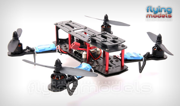XBird 250 FPV Race carbon quadcopter BNF 4
