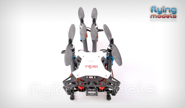 XBird 450 carbon quadcopter BNF 3
